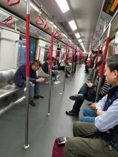 Riding the MTR in Hong Kong