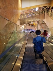Escalators at Langham Place Shopping Mall