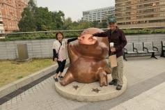 Piggie statue