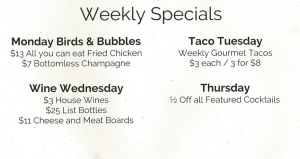 Weekly Specials at Rain Honolulu